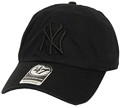d1cd856b72d Image Unavailable. Image not available for. Color  The 47 Brand Clean Up  New York Yankees Black Strapback