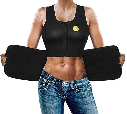 0e91a37b39a Body Shaper Slimming Sauna Vest for Women Hot Sweat Neoprene Weight Loss  Workout Tank Top Shirt