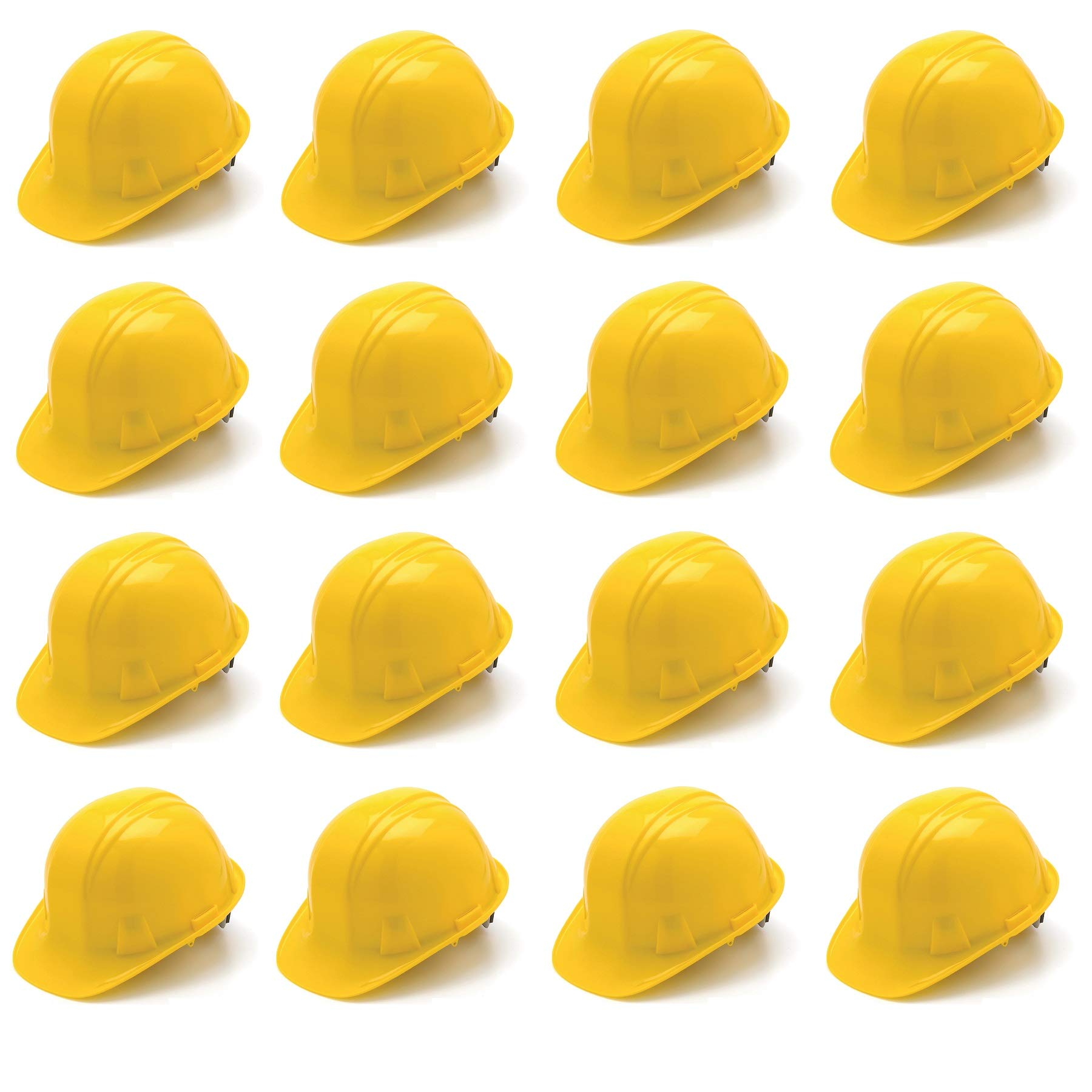 Pyramex SL Series Cap Style Hard Hat with 4 Point Ratchet Suspension Yellow HP14130 (16 Hats/1 Case)