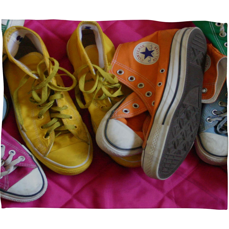 Deny Designs Barbara Sherman My Shoes Fleece Throw Blanket 60 x 80