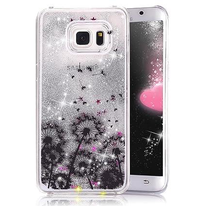 low priced 63de8 4650c S6 Edge Case,S6 Edge New Cool Cute Case,Crazy Panda 3D Hard Shell Liquid  Glitter Sparkle Stars Hard Case Cover for Samsung Galaxy S6 Edge Colorful  ...