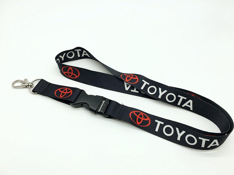 Amazon.com: Logotipo de Toyota llavero cadena negro (rojo y ...