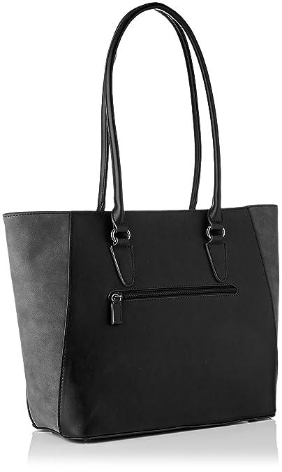 6a06b94db3b96 David Jones Women s CM3974 BLACK Shoulder Bag Black Black (Black)   Amazon.co.uk  Shoes   Bags