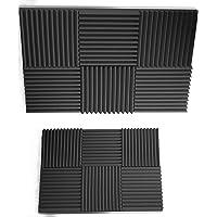 "Siless 12 pack Acoustic Panels 1"" X 12"" X 12"" – Acoustic Foam - Studio Foam Wedges - High Density Panels – Soundproof…"
