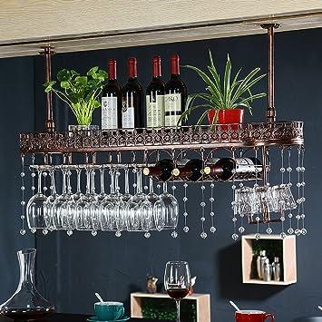Fkweinregale Einfachen Stil Eisen Hangende Weinglas Rack Decke
