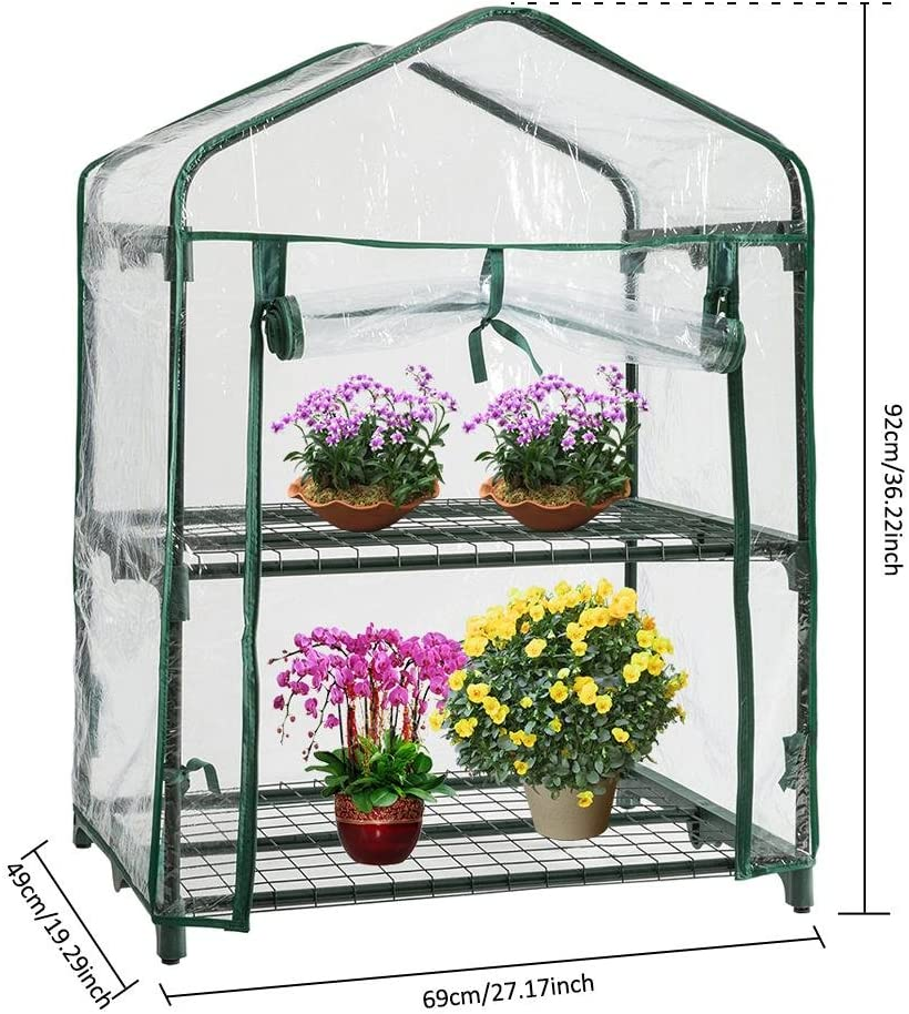 Without Iron Frame Hemistin Plant Greenhouse Cover Garden PE Grid Mini Tent Garden Cover