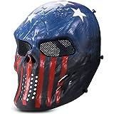 Kuyou Airsoft mask Tactical Full Face Skull Mask Mesh Eye Protection Mask Costume Mask