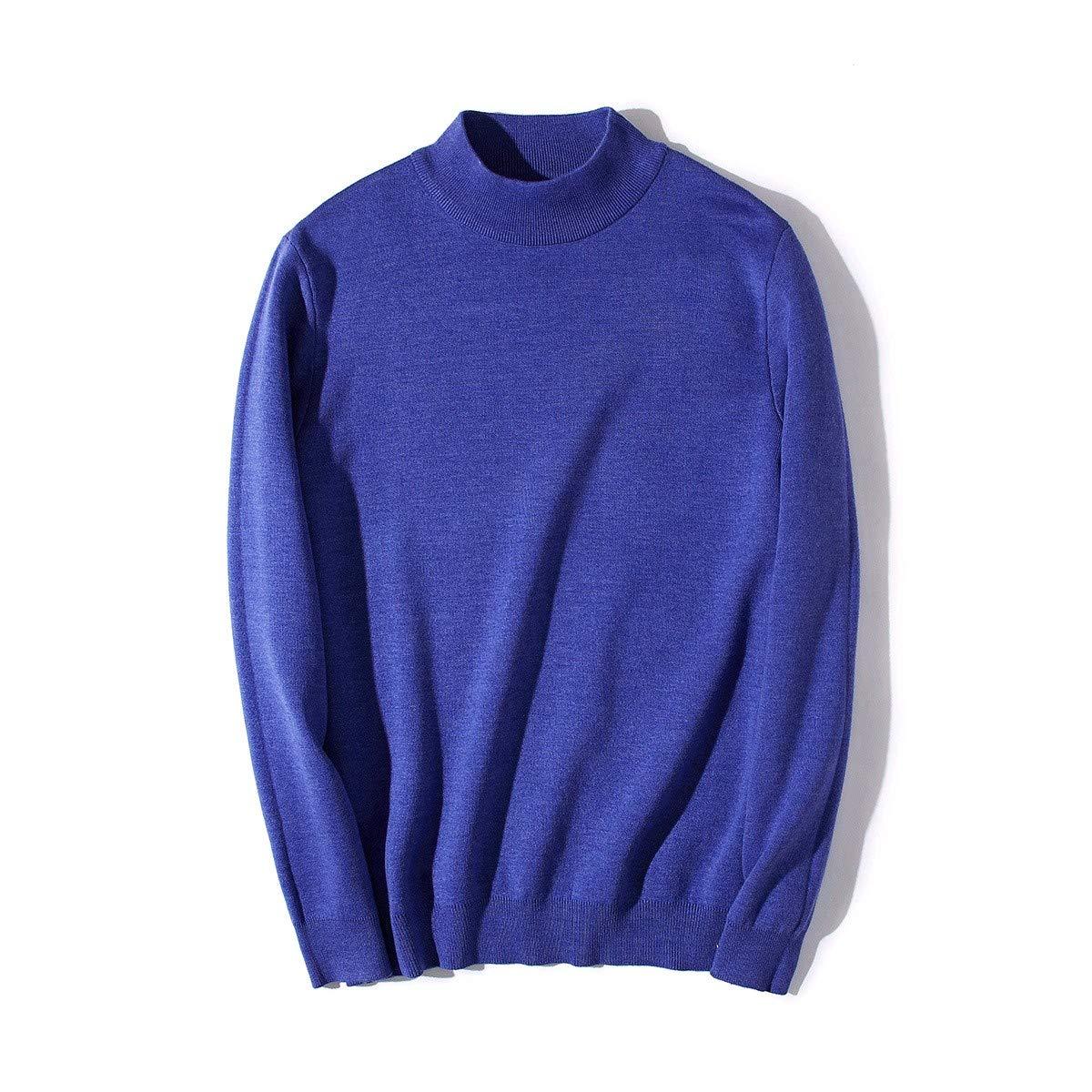 YUNY Men Turtleneck Pullover Oversize Colortone Pullover Sweater 7 S