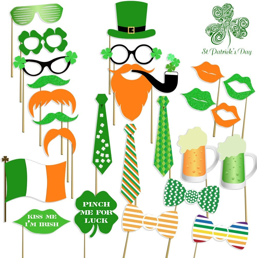 Unfinished Wood St Patrick/'s Day Photo Booth Prop Set Unfinished Wood Photo Booth Props Unfinished Wood Irish Wedding Photo Booth Prop Set