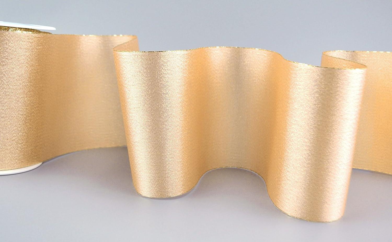 Dekoband Vienna Gold 3 M X 10 Cm Geschenkband Mit Metallgarn