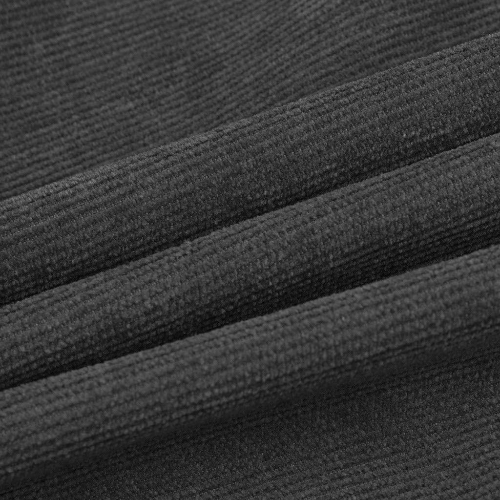 Vectry Abrigo Hombre Chaqueta Hombres Oto/ño Moda Camisas Casual Manga Larga Tops S/ólidos Pana Blusa Casual Talla Extra Sudaderas Hombre Blusa Outdoor Casual con Capucha