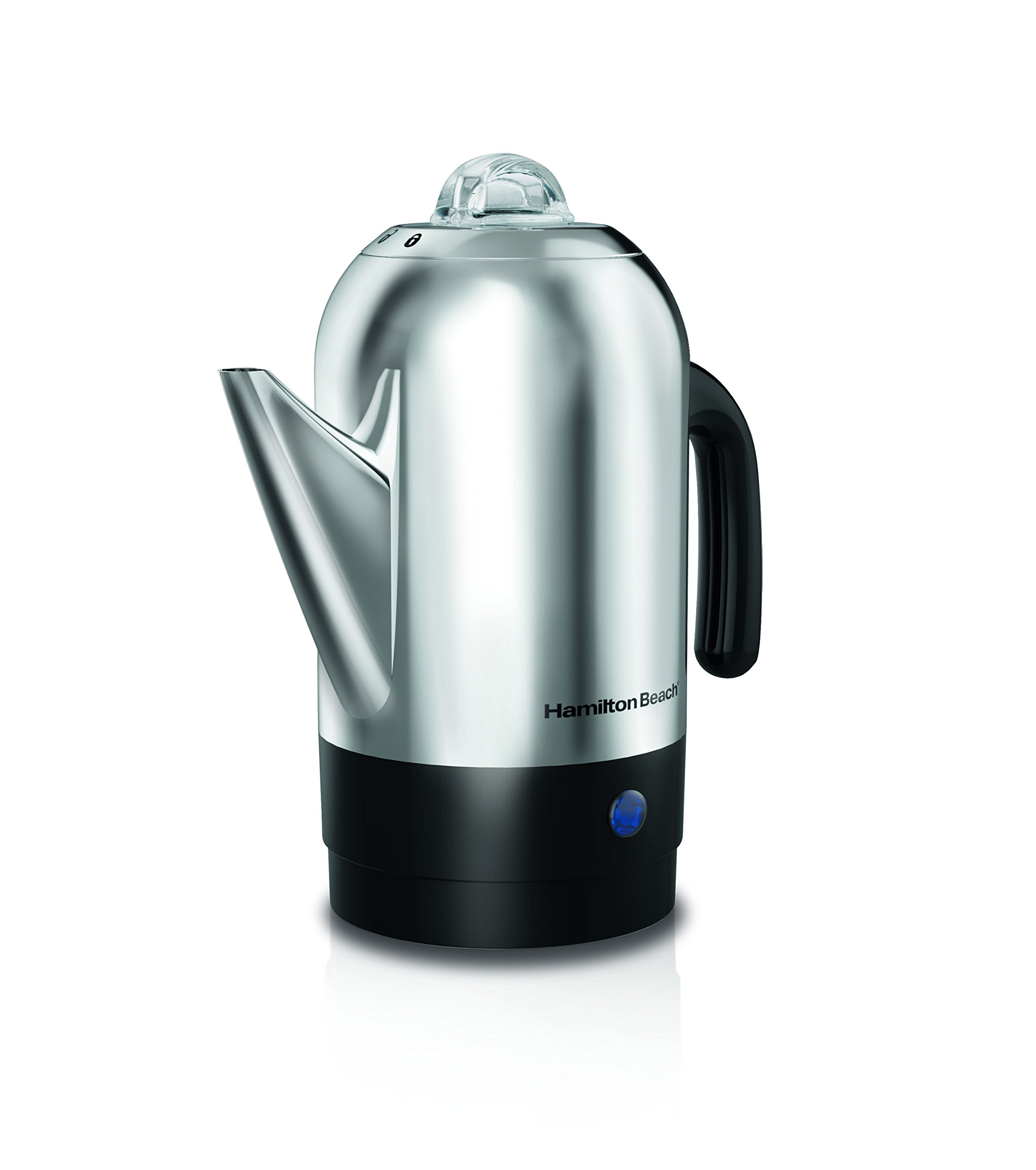Hamilton Beach 40621R 8 Cup Stainless Steel Percolator, Silver