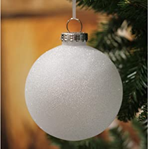 Sleetly Large Christmas Tree Ornaments, White Snowball, 4.72 inch, Set of 4
