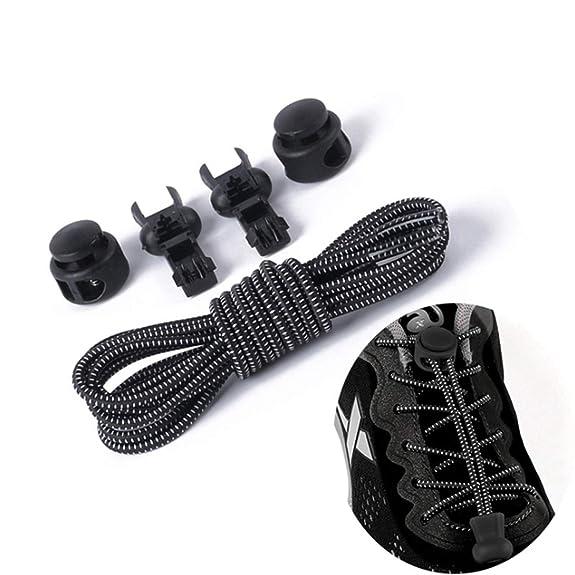 Amazon.com: Carol Chambers No Tie Shoelaces Stretching Lock Lace Locking Shoe Laces Elastic Sneaker Chidren Shoelaces Shoestrings: Shoes