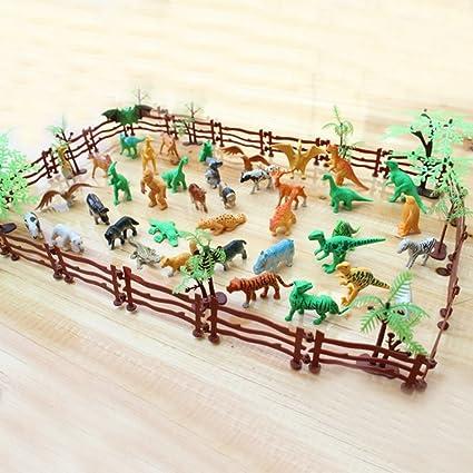 Amazon Com Kangkang 68 Pcs Kids Miniature Plastic Simulation