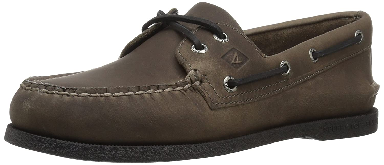 gris Sperry Top-Sider - Chaussure Bateau 2 Oeil Pullup A O Homme