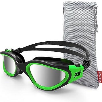 Gafas de natación, ZIONOR G1 Gafas de natación polarizadas con lente de espejo / humo