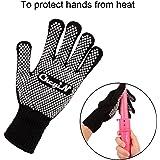 CkeyiN 1Pcs Gant, Fils de coton, Résistance à haute température, Anti-brûlure pour Ckeyin Fer à boucler ou Fer à lisser