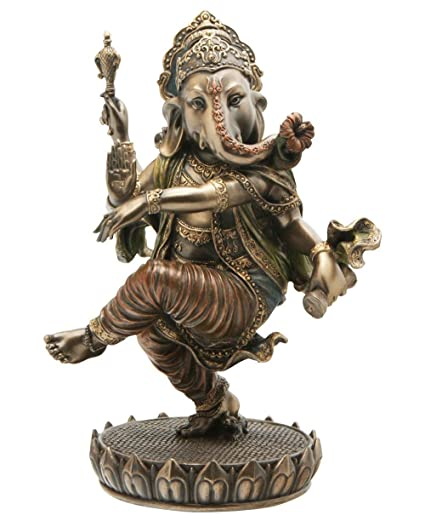 a82f6cbf1b Image Unavailable. Image not available for. Colour: Collectible India  Ganesha Idol Hindu God Dancing Ganesh Ganpati Cold Cast Bronze Statue ...