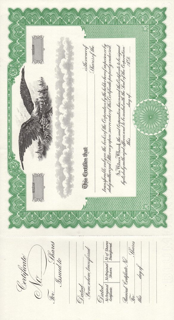 Amazon Stock Certificates Office Products