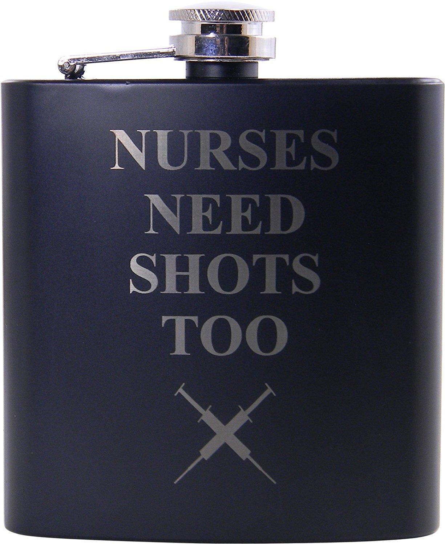 【現品限り一斉値下げ!】 Nurses Need Shots by Too Flask, Funnel for and Gift Cna, Box - Great Gift for a Cna, Rn, LPN Nurse, Nursing Student or Nursing Graduate by CustomGiftsNow B01B6ZVEXO, 霊山町:24c1e08c --- a0267596.xsph.ru