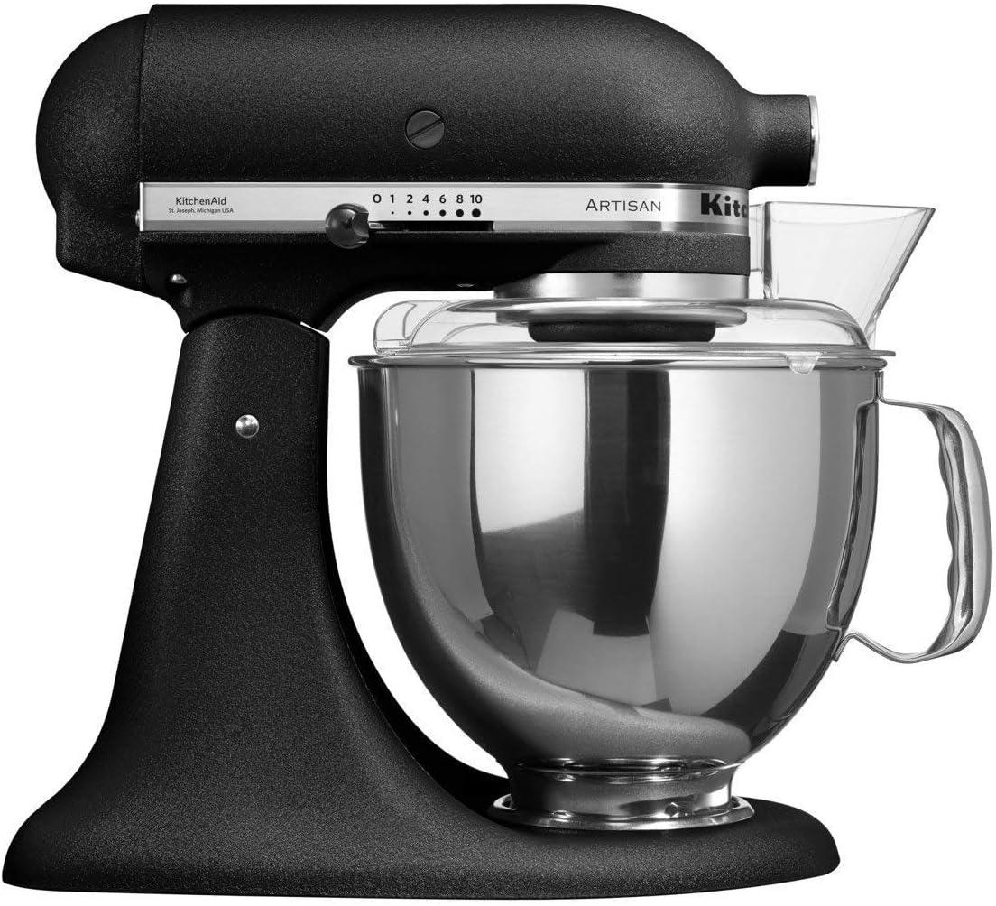 KitchenAid ARTISAN 5KSM175PSEBK– Batidora de cocina con equipamiento profesional, hierro fundido, color negro: Amazon.es: Hogar