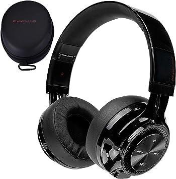 Cascos Bluetooth Inal/ámbrico Plegable Casco Bluetooth y Cable Sonido Est/éreo con Micr/ófono para iPhone,M/óviles,TV PowerLocus Bluetooth Auriculares Diadema, Bluetooth 5.0,40h de m/úsica PC Blanco