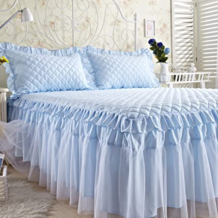 YFFS Cotton Lace Bed Skirt Single Piece Of Cotton Thick Bed Sheets  Bedspread Bedspread Skirt,