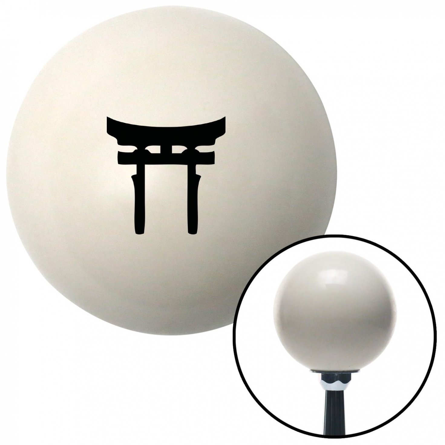 American Shifter 32738 Ivory Shift Knob with 16mm x 1.5 Insert Black Torii
