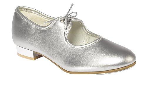 Saigneurs Et Chaussures De Danse Pour Pointeurs Argent Fille Plaqué, Couleur Argent, Taille 35.5