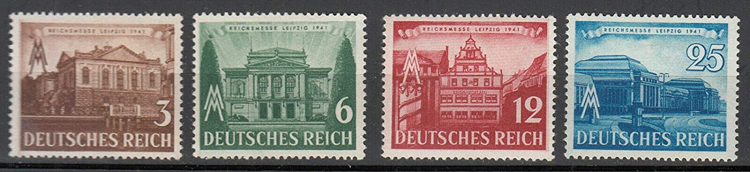 Germany Third Reich WWII 1941 Leipzig Fair Set of 4 Postage Stamps Mint NH