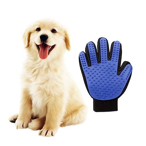 Guantes Manopla Masaje para mascotas perros gatos, Retiro del pelo y Aparato de masaje -