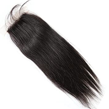 Bella Hair 44 Free Part Silk Base Closure Brazilian Straight Hair 1pc Natural Color (10inch
