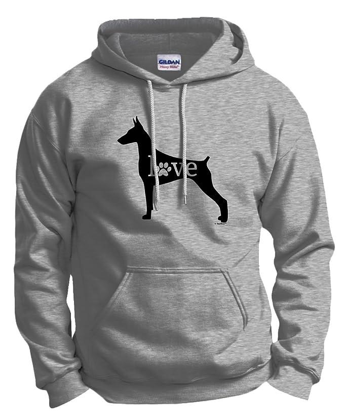 ThisWear Doberman Love Dog Paw Prints Hoodie Sweatshirt