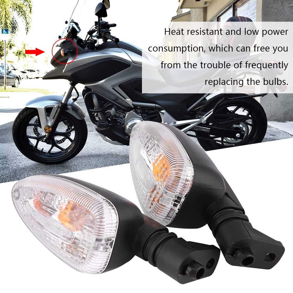 Couleur : Transparent brun fonc/é, transparent et jaune Ampoule de clignotant 1 paire de clignotants LED pour moto clignotant pour BMW F800