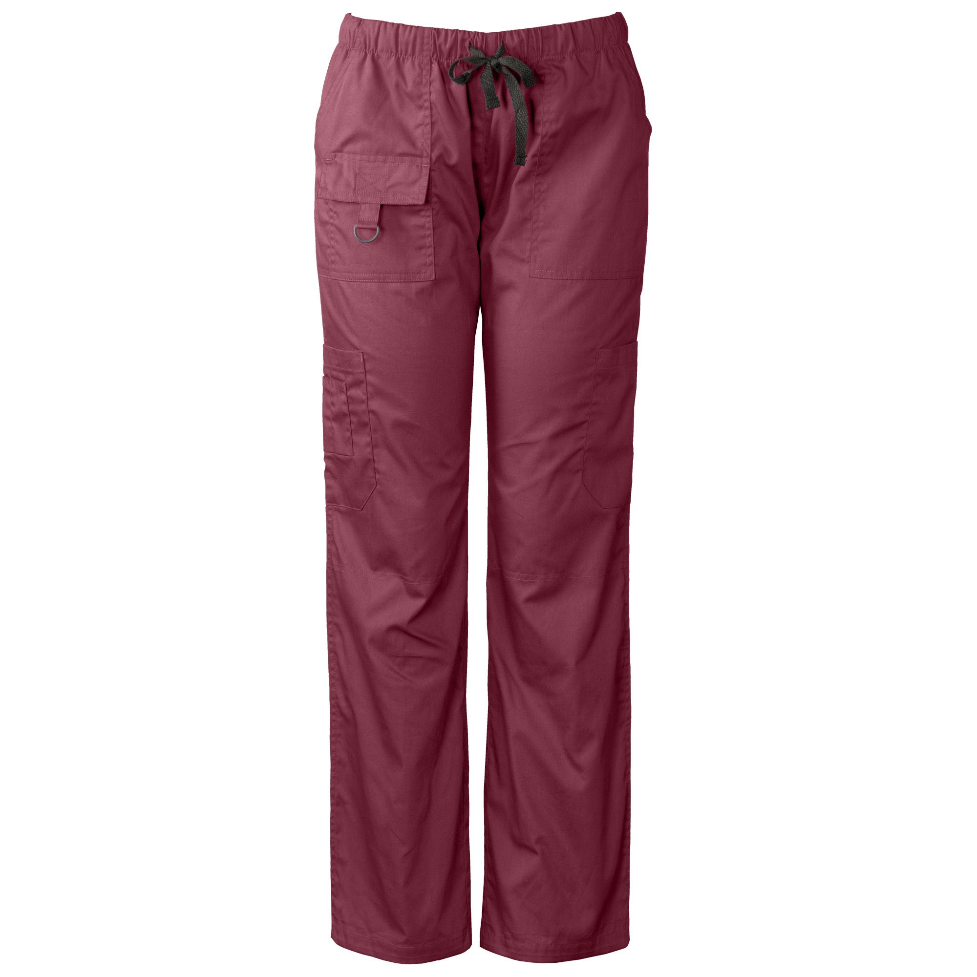 Medgear Womens Scrubs Pants, Utility Style with 7 Pockets and Loop 2043 (M, Burgundy)