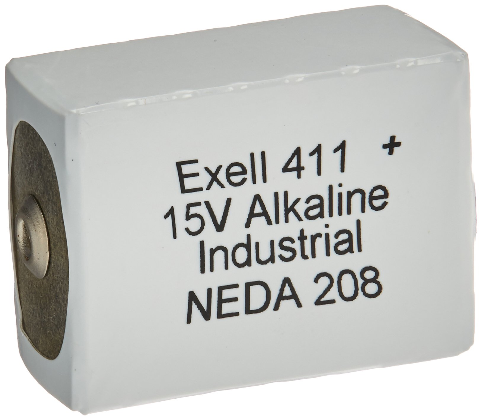 Exell Battery 411A Alkaline 15V Battery, Replaces NEDA 208, 10F20, BLR121, White/Silver