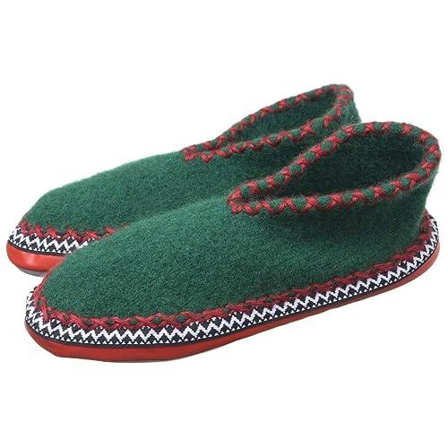 outlet store 8a515 65773 ALPLER Pantofole Tirolesi MOD. 25002 Verde: Amazon.it ...