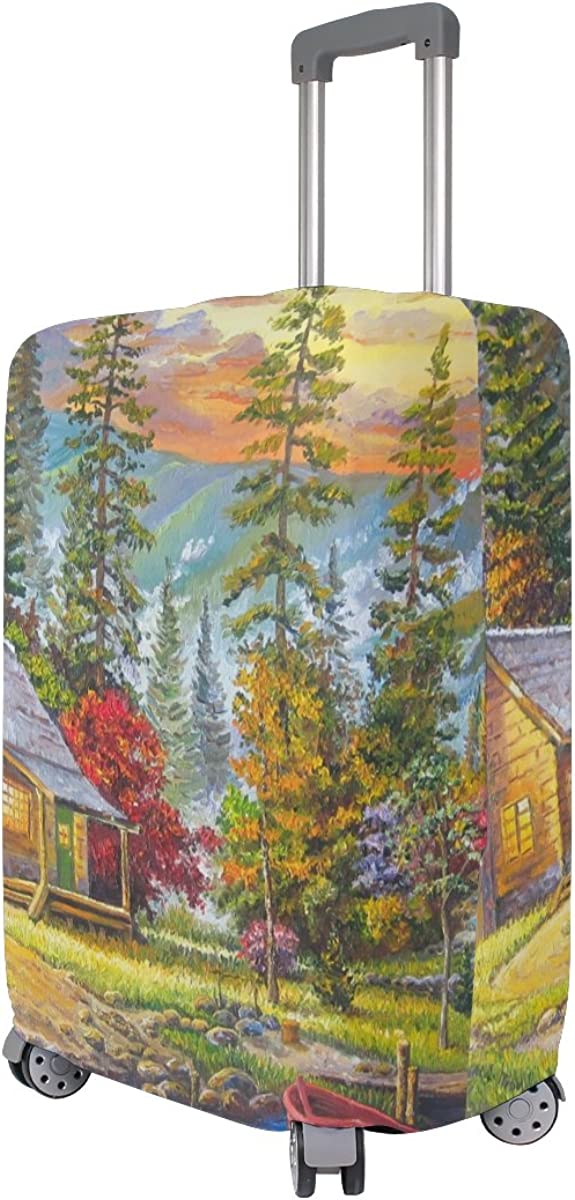 GIOVANIOR The Sunset On Lake Luggage Cover Suitcase Protector Carry On Covers