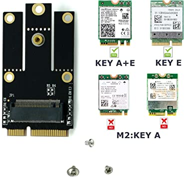 Converter Adapter Support Full // Half Size NGFF M.2 Key E to mPCIe PCIe+USB