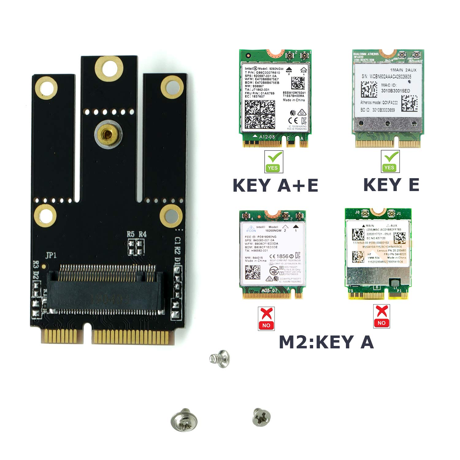 Mini Pcie Partegg M.2 Ngff 2230/2242 Key A/key A+e To Adapte