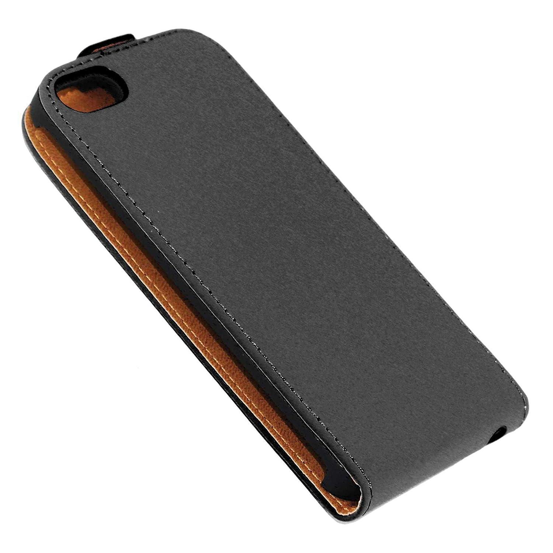 Negro Funda Libro Billetera ebestStar Aparato: 123.8 x 58.6 x 7.6mm, 4.0 Compatible Funda iPhone SE 5S 5 Carcasa Ventana Vista Cover Cuero PU