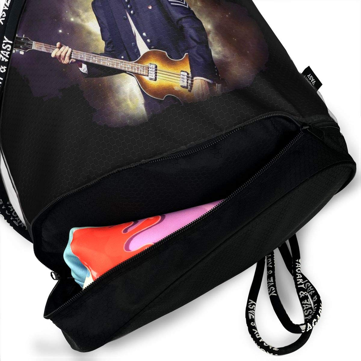 DIDhsswuz Paul-McCartney Unisex Drawstring Backpack Drawstring Bag Bundle Backpack Yoga Bag