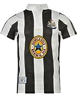 Score Draw Mens Newcastle United 1996 Home Shirt Short Sleeves T Shirt Tee Top