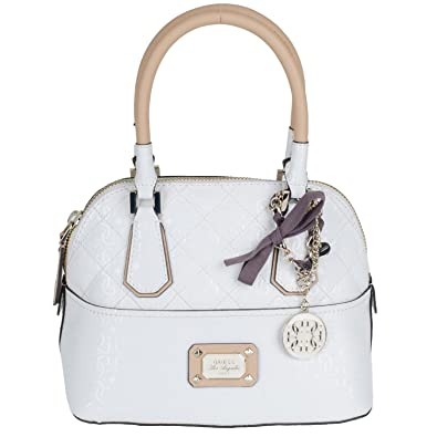 27b9aa5945 Guess Sac à Main Romeo Amour Dome Satchel White: Amazon.co.uk: Shoes ...