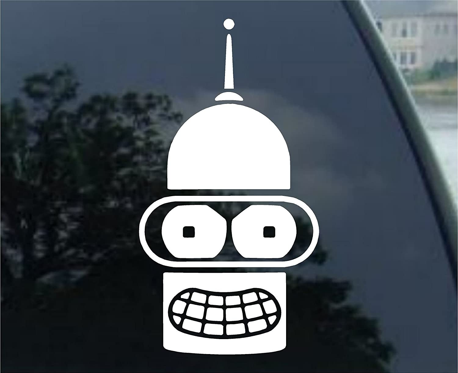 2019公式店舗 Futurama Bender White Sticker Decal Bender Futurama Wall Decal Laptop Notebook Die-cut White Sticker Decal B00CI920Q8, サイバーベイ:b041c6cb --- a0267596.xsph.ru