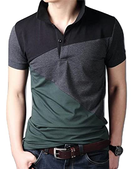 6501bd1c9a6 LionRoar Men s Cotton Stylish Polo Neck Half Sleeve T-Shirt  Amazon.in   Clothing   Accessories