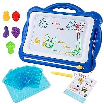 SGILE Pizarra Magnética Infantil, Grande Color magnético Doodle Sketch Pad, Juguetes niños No Tóxico para Niños Infantiles, 41*23