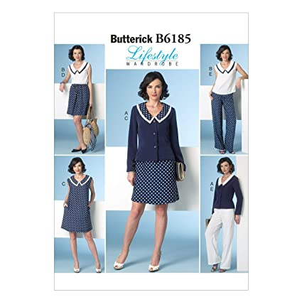 Vogue Patterns 6185 E5 - Patrones de Costura (Tallas 42-50, Chaquetas,