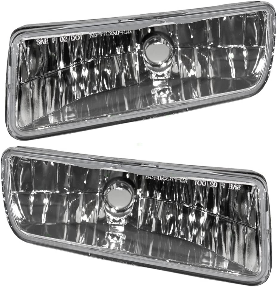 Driver and Passenger Fog Lights Lamps Replacement for 2003-2006 Expedition 2L1Z15201AB 4L1Z15200AA